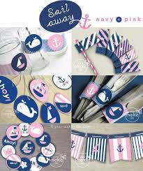 nautical party supplies navy and pink nautical party printables of nautical party