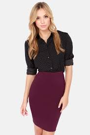 high waisted skirt burgundy skirt pencil skirt high waisted skirt 34 00