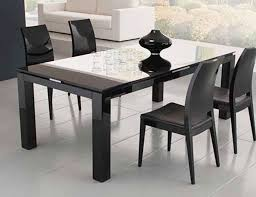 Glass Dining Table 4 Chairs Chair Black Counter Height Dining Set Kitchen 5 Piece Glass Top
