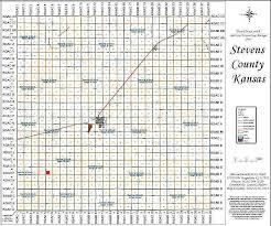 Ks Map Stevens County Kansas Family History Research