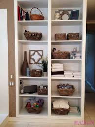 Small Bathroom Closet Ideas Toiletry Organizing Bathrooms And Linen Closets Linen Shelf