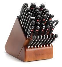 kitchen knives block set wusthof classic 36 cherry knife block set reviews wayfair