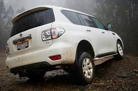 crashed white jeep 2018 nissan patrol v8 review