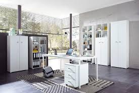 ensemble bureau biblioth ue ensemble de bureau contemporain coloris blanc monty soldes bureau