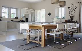 65 inch dining table industrialize your dining room with metal chairs pertaining to