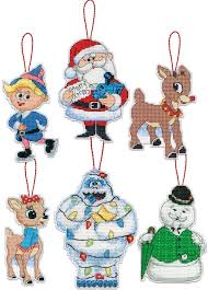 rudolph the nosed reindeer santa ornaments kit plastic