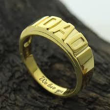 gold name ring aliexpress buy wholesale gold color personalized men s