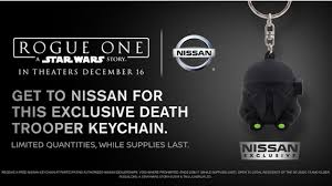 nissan rogue one helmet nissan rides star wars merch train offers rogue one keychains