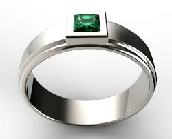 unique mens wedding band unique mens princess cut green emerald wedding ring vidar for mens