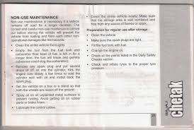rare motorcycle bajaj chetak 2005 model owners manual