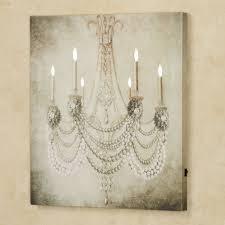Oyster Chandelier Vintage Chandelier Led Lighted Canvas Art