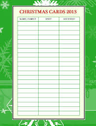 emjay u0027s course christmas card organizer printable