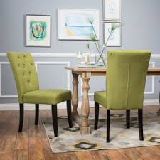 Dining Room Sets With Fabric Chairs by Green Dining Room U0026 Kitchen Chairs Shop The Best Deals For Oct