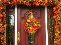 Corn Stalk Decoration Ideas The Tuscan Home Fall Decorated Front Porch Welcome To My For I
