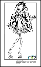monster skelita coloring pages getcoloringpages