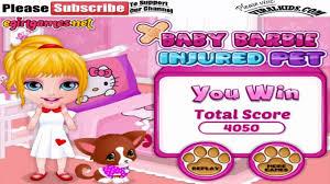 barbie games baby barbie injured pet play free barbie girls
