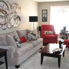 Red And Black Furniture For Living Room by Bassett Furniture Gray Living Room White Walls Dark Trim