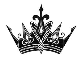 royal crown design in black and white for king prince or