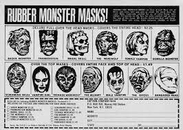 rubber monster mask ad vintage halloween pinterest monsters