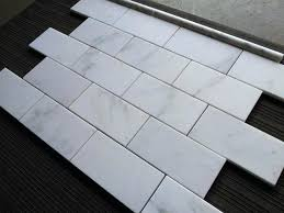 Carrara Marble Floor Tile Carrara Marble Subway Tile Piercingfreund Club
