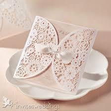 invitations wedding pink laser cut ribbon wedding invites iwsm001 wedding