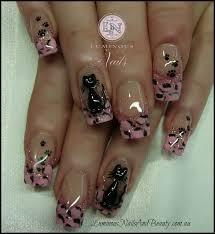 pink cheetah nail designs charlotta idolza