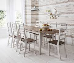 dining table and chairs dark pine and white with extending table