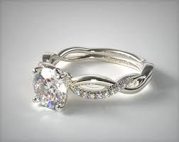 infinity engagement rings infinity engagement ring 14k white gold allen