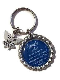 in memory of keychains keychain with angel charm angel wings guardian angel