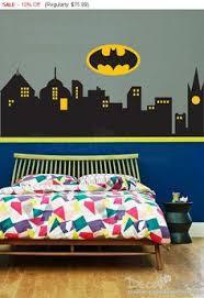 Batman Boys Bedroom Decalideas Batman Gotham City Skyline City Buildings Sticker Is