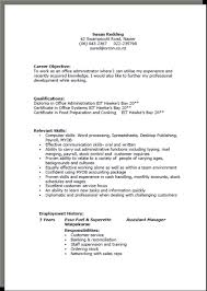 Resume Paragraph Example by Cv Formats And Examples
