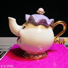 disney beauty and the beast mrs potts chip tea pot cup set mug