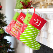 red and green patterned christmas stockings