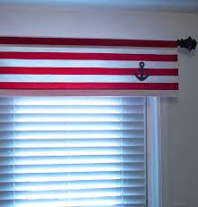 Nautical Valance Curtains Nautical Window Valance White Blue Anchor Curtain