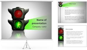 traffic lights powerpoint template green traffic light powerpoint