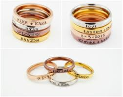 personalized rings for personalized ring etsy