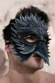 Black Raven Halloween Costume Raven Bird Prey Mask Masquerade Mask Costume Mask Fantasy