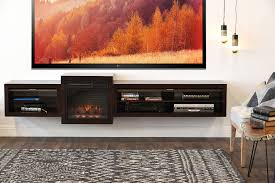 floating fireplace wall mount tv stand eco geo espresso woodwaves