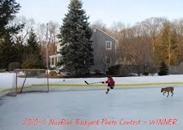 How To Make A Ice Rink In Your Backyard Nicerink Rink In A Box Hockeyshot