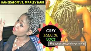 grey marley braiding hair grey faux locs teyana taylor inspired tutorial protective