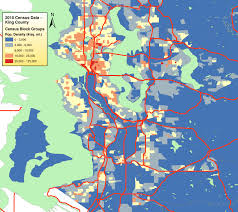 Map Of Seattle Census 2010 King County Population Density Map Build The City