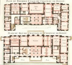 cahier 3 plate 10 plan du premier etage du chateau de roissy