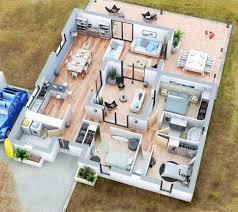 faire des chambres d h es plan maison 3d moderne newsindo co