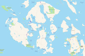 Channel Islands Map Orcas Island Birthday Getaway