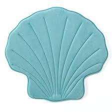 Seashell Bath Rug Seashell Bath Rug Aqua Sea Shell Memory Foam Bath Rug Shell Shaped