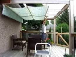 Awning Diy Diy Retractable Pergola Canopy Awning Youtube