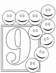 number 9 coloring page getcoloringpages com