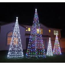 8 foot led christmas tree white lights outdoor christmas decorations intended for lighted tree designs 13