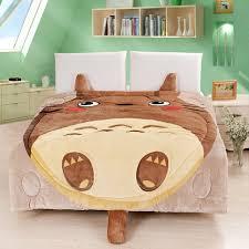 Totoro Home Decor by Memorecool Upgrade Flannel Totoro Bed Cover Cute Cartoon Comforter