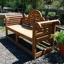 curved wooden garden bench salvowebcom soapp culture